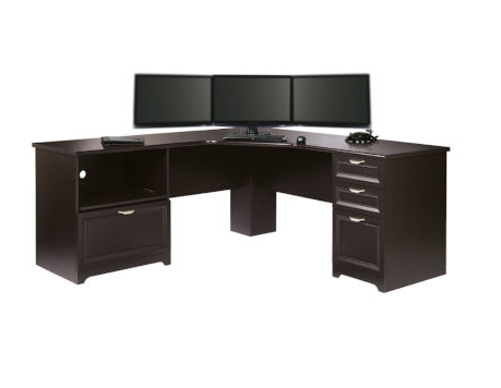 Orchard Hills Computer Desk with Hutch in Carolina Oak