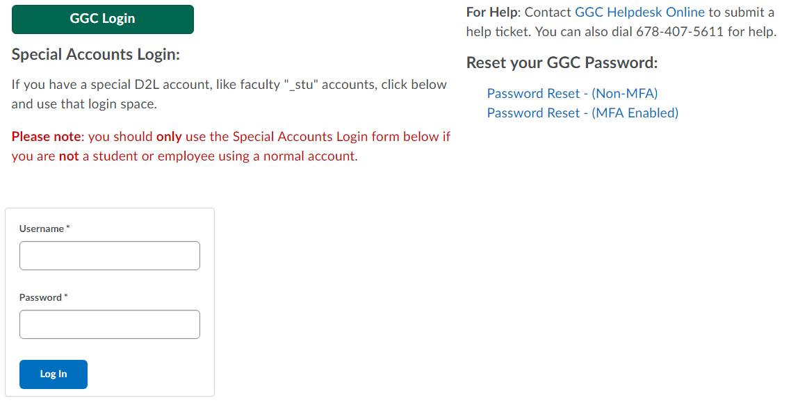 ggc d2l login