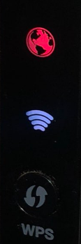 verizon router red globe